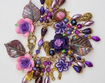 Kamia Gypsy Charm Bracelet Wiccan Bohemian Alternative Hippie Bollywood Festival