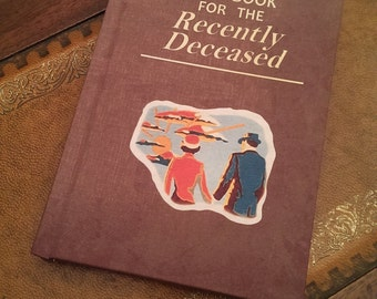 Handbook for the recently deceased.. blank notebook..fan made cosplay prop