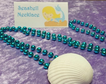 PARTY PACK Mermaid Seashell Necklace Party Favor