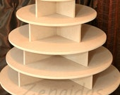 Cupcake Stand 5 Tier Round 180 Cupcakes Threaded Rod and Freestanding Style  MDF Wood Cupcake Tower  Wedding Stand DIY Project
