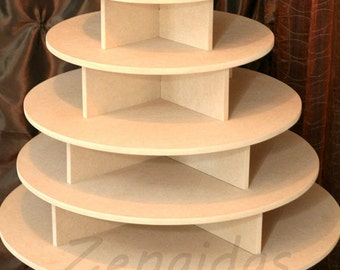 Cupcake Stand 7 Tier Round 200 Cupcakes With Threaded Rod