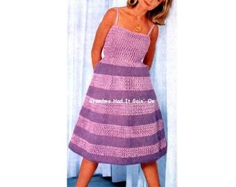 Halter Dress KNITTING PATTERN - Two dress patterns - Wiggle Dress - Vintage pattern - PDF Instant Download - Mod Dress - Halter Sundress -
