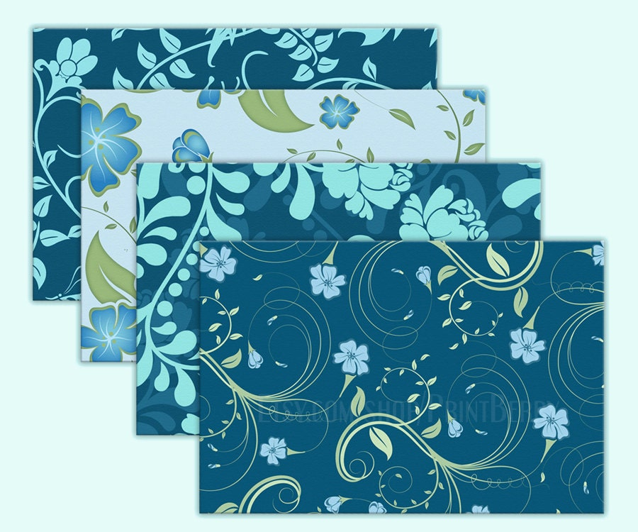 Floral Envelopes 4X6 Envelopes Printable Envelope Template Pastel