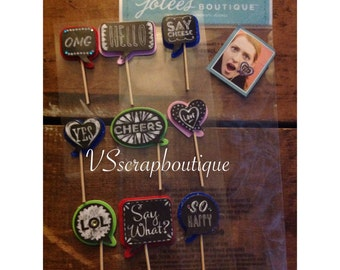 Jolee's Boutique Stickers Chalkboard Quotes Dress Up ~ Scrapbooking Embellishments