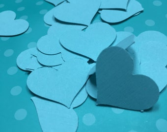 Light Blue Heart Confetti