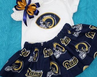 St. Louis Rams 3pc Girls Bodysuit set