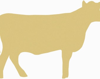 COW Unfinished Wooden Craft Shape, Do-It-Yourself