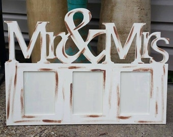 Mr and Mrs, Picture Frame, Wood Art, Unfinished Wood Frame, Wall Decor