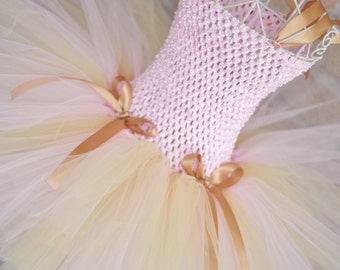 Pink and Gold Tutu Dress
