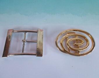 Vintage Belt Buckles Lot / 2