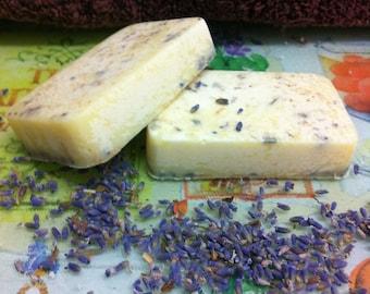 Bath Truffle, Lavender and Chamomile Cocoa Butter Bath Truffle, Bath Melt, Solid Lotion Bar, Massage Bar