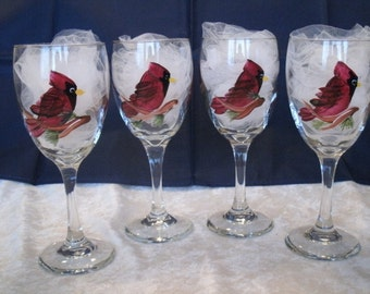 CARDINAL WINE GLASSES, set of four