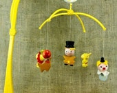 Vintage Wooden Judi's Circus Clowns Animals Musical Multi-Mobile Baby Nursery D5