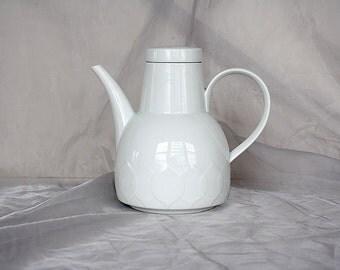 Rosenthal China Coffee Pot - White Porcelain Coffee Pot -Rosenthal Coffee Pot - Rosenthal Lotus - Vintage Coffee Pot -White China Coffee Pot