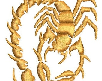 Scorpio - Machine Embroidery Design - three sizes