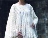 Poncho Aran Crochet PATTERN pdf Instant Download Ref No50