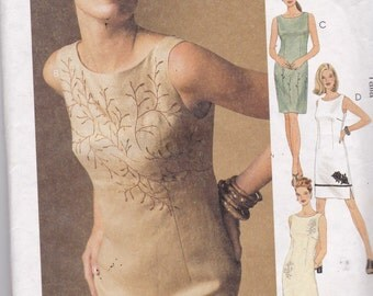 McCalls 2114 Vintage Pattern Womens Fitted Dress in 4 Variations SIze 10,12,14, UNCUT