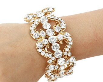 Bridal Bracelet Wedding Bracelet Gold Swarovski Pearl Wedding Bracelet Bridal Jewelry Wedding Jewelry Style-149