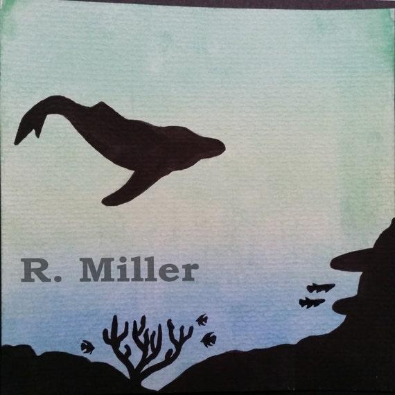 Underwater Silhouette Painting Underwater Silhouette