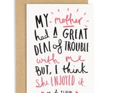 Mark Twain Quote - Mother's Day Card - Card for Mom