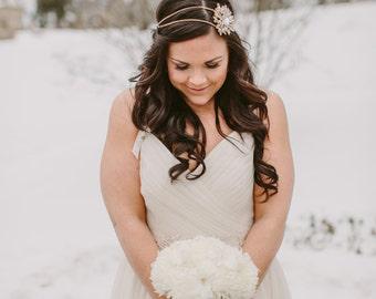 Crystal Brooch Headband - Rhinestone Headband - Bridal - Prom - Special Occasion - Headpiece