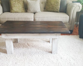 Farmhouse plank coffee table