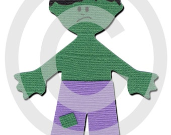 The Incredible Hulk Super Hero Scrapbook Die Cut Doll Superhero Project Life 365 Scrapbooking Paper Piece