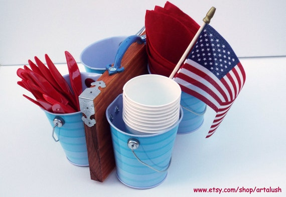 Party Utensil Caddy Pool Party Utensil Caddy