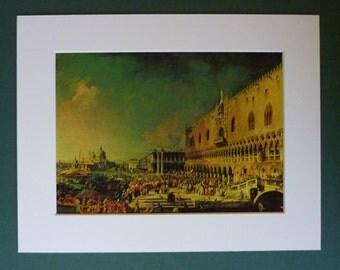 Canaletto Print, Venetian Landscape Art, Available Framed, Venice Art, Italian Wall Art, Italy Picture, Nautical Decor, 17th Century Decor