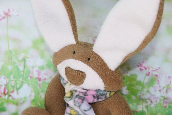 Apple Blossom Bunny - A delicate shade of pink --- waldorf baby toy --- handmade stuffed rabbit --- unique baby shower gift for a baby girl