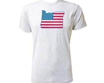 Oregon American Flag - NLA Heather White