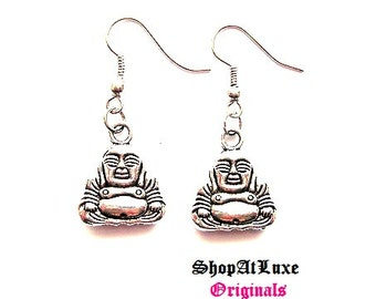 Mini Buddha Earrings In Silver Or Gold!