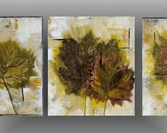 Painting original Maple leaf art fall decor wall art home decor wall hanging acrylic painting Kitchen Art autumn art by jillsfineart