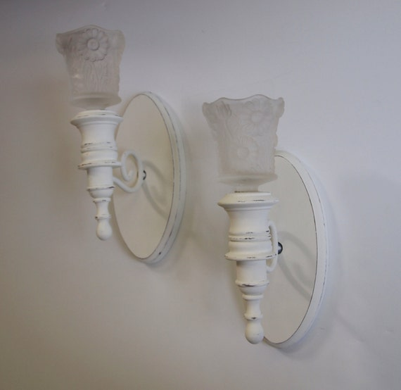 Candle Sconces Vintage Wood And Metal Candle Holders With