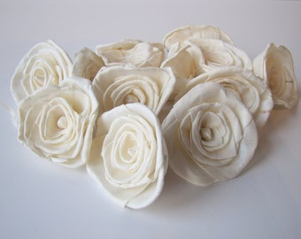 Classic Rose Sola Flowers - SET OF 10 ,  Sola Flowers, Wood Sola Flowers, Sola Rose, Balsa Wood Flowers, Wedding DIY, Flowers for Crafting