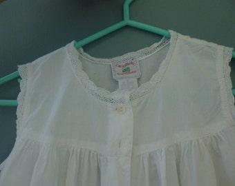 Vintage Child's White Pinafore Size 6