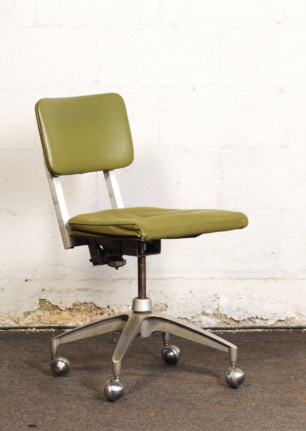 Mid Century Modern Industrial Metal Office Chair By