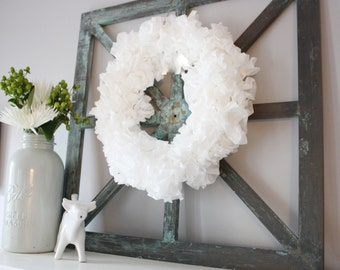 Coffee Filter Wreath - White