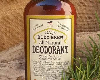 Natural Deodorant  works 24 hours | Underarm Body Odor Cure |Aluminum Antiperspirant Free | Organic Ingredients
