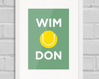 Wimbledon Pâté - Giclée Art Print