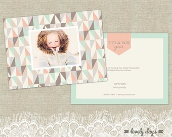Photography Thank You Card template for Photographers INSTANT DOWNLOAD