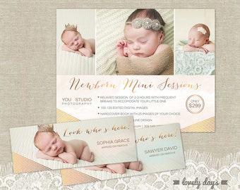Newborn Mini Session Template Marketing Board Flyer and timelines for Photographers INSTANT DOWNLOAD