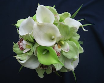 Calla Lily And Orchid Wedding Bouquet