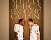 "REMEMBER THE TITANS ""Attitude Reflects Leadership, Captain"" Quote Poster **Also Available In Horizontal Format**"
