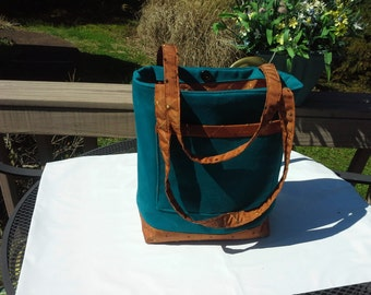 Teal And Copper Tote Bag