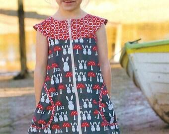 "Pattern ""Zip-It"" Girl's Dress Pattern by Make It Perfect (MP052/MP053)"