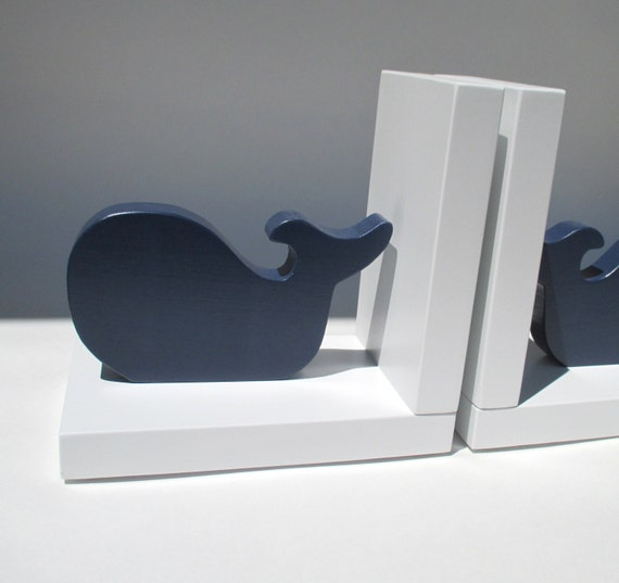 wood whale bookends childrens room decor nursery room