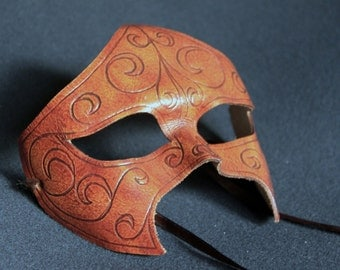 Leather Venetian Domino Mask