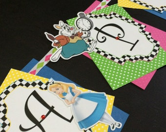 Alice In Wonderland Party/ Alice in Wonderland Banner