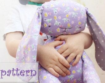 PATTERN for safe stuffed bunny rabbit 14' stuffed animal baby diy